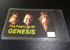 GENESIS 1987 THE FINAL LEG Tour laminated backstage tour pass staff