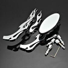 Flame Chrome Rearview Mirrors For Kawasaki Vulcan Classic Nomad Voyager 1700