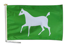 More details for wiltshire white horse flag 3'x2' (90cm x 60cm) with rope & toggle - one only