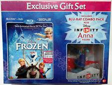 NEW Disney Frozen Blu-Ray DVD Digital HD + Anna Infinity Figure Exclusive Set