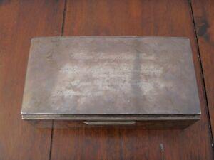 Vintage Silver box 1953