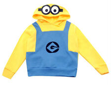 BNWT Official MINIONS Hoody 3-12y Winter Fleece Sweater/Costume Goggles/Jumper