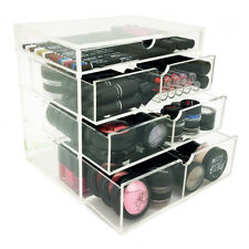 New! Deluxe Makeup Organizer - Acrylic 4 Tier Drawer Cosmetic Display Case