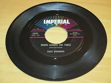 FATS DOMINO-HANDS ACROSS THE TABLE  B/W-WON'T YOU COME ON BACK