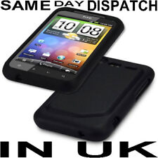 BLACK SILICONE CASE COVER SKIN FOR HTC INCREDIBLE S UK