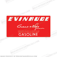 Evinrude 1953-1956 4 Gallon Fuel Gas Tank Decals Crus-A-Day Decal Kit - Set of 2