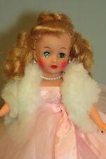 """White Faux Fur Stole Little Miss Revlon 8-12"""" Fashion Doll Toni Jill Cissette"""
