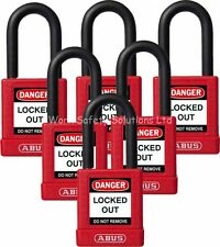 ABUS 74/40 Red Lock Out Safety Padlock  6 Pack Key Different