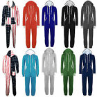 Plus Size Mens Womens Unisex Hooded Onesie All In One Piece Jumpsuit 20 32-34