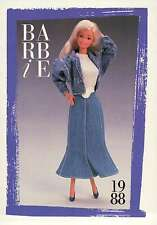 """Barbie Collectible Fashion Card """" The Jeans Look Fashions """" 1988"""