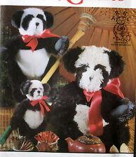 "Stuffed Animal Teddy Bear PANDA pattern 7"" 10"" 16"" three sizes Alexia Roosevelt"