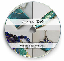 70 Rare Vintage Books on DVD Enamelling Jewellery Porcelain Metal Craft Work C4