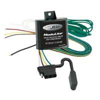 Trailer Hitch Wiring Harness Powered Modulite Kit Non Pre-wired Vehicle