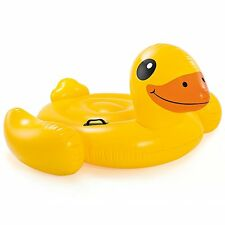 "Intex Yellow Duck Inflatable Ride-On, 58"" X 58"" X 32"", for Ages 3+"