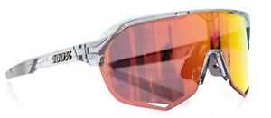100% S2 Cycling Sunglasses Translucent Grey HiPER Red + Replacement Lenses Bike