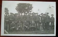 WW1 Military Real Photo postcard in Camp by H.Hitchen of Northwich Cheshire