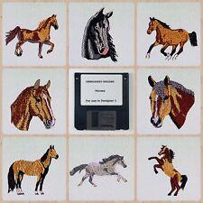 Horses #1 Embroidery Designs Disk For Husqvarna Viking Designer 1