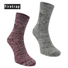 2 Pack: FIRETRAP Ladies/Womens lightweight comfy Socks | Branded | Size 4-8