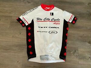 Aspen CO Ute City Cycle Shop Cycling Jersey by Biemme Men's Size XL Race Cut