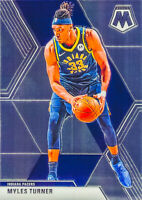 Myles Turner 2019-20 NBA MOSAIC BASKETBALL Chrome Base Card #195 Indiana Pacers