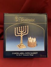"""Fontanini 5"""" Collection Candelabra With Basket Exclusively By Roman Inc."""