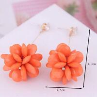 Women Fashion Flower Earrings Sweet Drop Dangle Jewelry Gifts Earrings Tassel