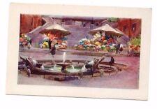Italy - Rome / Roma, Piazza di Spagna - Vintage Postcard