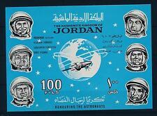[20625] Jordan 1965 Space Travel Weltraum Astronauts Overprint Imperf. Sheet MNH