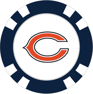 Team Golf Chicago Bears Poker Chip With Magnetic Ball Marker