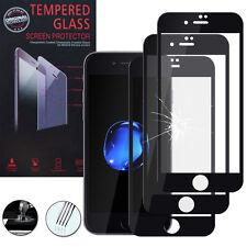 """3 Films Verre Trempe Protecteur Protection NOIR pour Apple iPhone 7 4.7"""""""