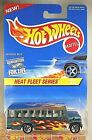 1997 Hot Wheels #538 Heat Fleet Series 2/4 SCHOOL BUS Green w/5 Spoke Malaysia