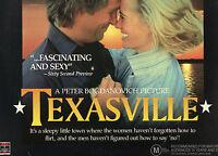 TEXASVILLE - Jeff Bridges & Cybil Shepherd - 2 x LASER DISC set - NEW - PAL