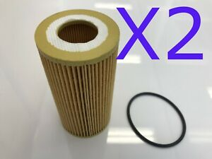 2X Oil Filter Suit R2652P R2633P VOLVO C70 5CYL 2.5L PET MC68 T5 B5254T3 06-10