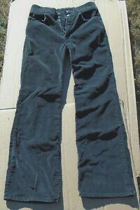 Vintage Levis 32 x 30 Mens Black Brushed Denim Jeans Flare Leg Circa 1970s?