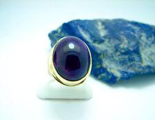 Art Deco Amethyst Cabochon Ring 585 Gold Gr. 52 Goldring 9,7 Gr. Damenring