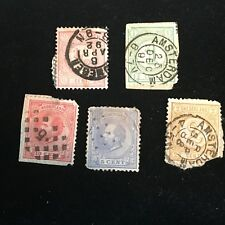 1872-1876 Netherlands Postage Stamps, Used