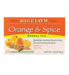 2/Bigelow Orange & Spice Herbal Tea Bags 2 Box Pack