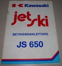 Betriebsanleitung Kawasaki Jet Ski JS 650 Bedienungsanleitung Handbuch Deutsch!