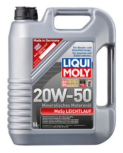 Liqui Moly Mos2 Engine Oil 20W-50 5L fits Citroen ID 19, 19 B, 19 F, 19 F Sup...