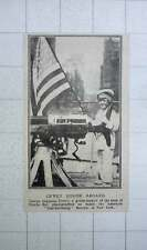1917 George Augustus Dewey On Board American Land Battleship Recruit New York
