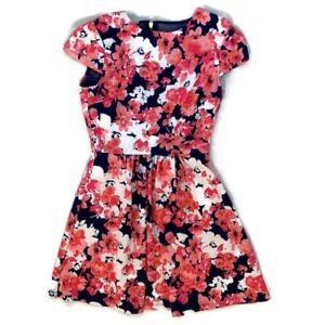 B Darlin Womens Juniors Dress Fit and Flare A Line Flowers Cap Sleeves Size 7/8