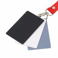 18% White Black Grey Balance Cards + Neck Strap for Camera Digital Photography