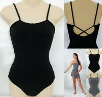 Abstract Dance Costume Leotard Only BLACK Camisole Ballet Clearance Child/Adult