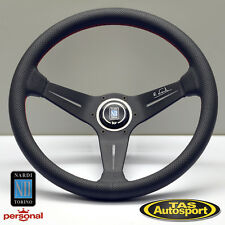 Nardi Steering Wheel DEEP CORN Leather, WHITE SIGNATURE 350mm 6069.35.2093WS