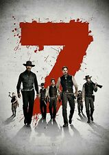 Magnificent Seven 7 Poster 2016 NEW Cool Movie Hit, FREE P+P, CHOOSE YOUR SIZE