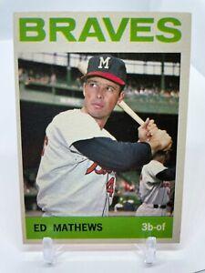 1964 Topps Set Break # 35 Ed Eddie Mathews Matthews Good Condition