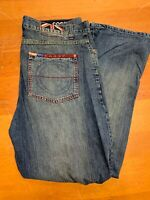 Coogi Down Under Blue Denim Jeans Mens 44 Dark Wash Relaxed Fit EUC