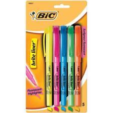 School Supplies Bic Brite Liner Fluorescent Highlighters 5 Colors