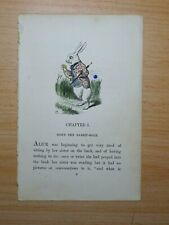 1866 Alice in Wonderland FIRST STORY PAGE FROM FIRST EDITION Book Lewis Carroll