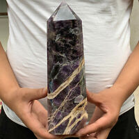 5.47LB Natural Dreamy Amethyst obelisk Quartz Crystal wand point Healing